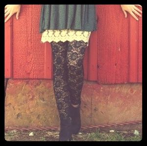 Pants - Lace leggings